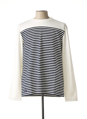 Pull col rond blanc OXBOW pour homme