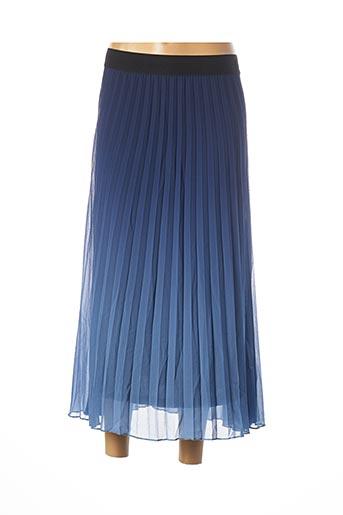 Jupe mi-longue bleu DESIGUAL pour femme