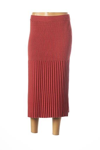 Jupe mi-longue marron CHERRY PARIS pour femme