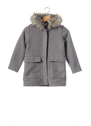 Manteau long gris 3 POMMES pour fille