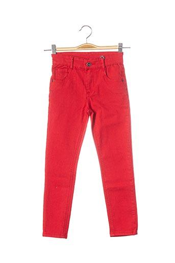Jeans coupe slim rouge 3 POMMES pour fille