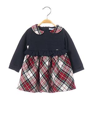 Robe mi-longue rouge MAYORAL pour fille
