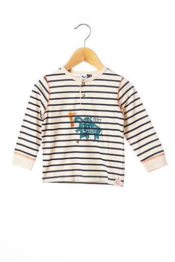 T-shirt manches longues beige 3 POMMES pour garçon
