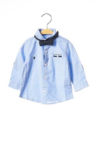Chemise manches longues bleu MAYORAL pour garçon