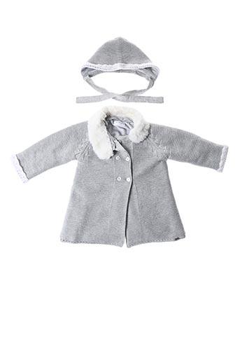 Manteau court gris MAYORAL pour fille