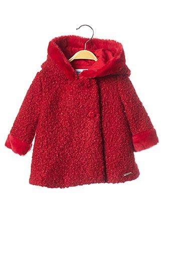 Manteau court rouge MAYORAL pour fille