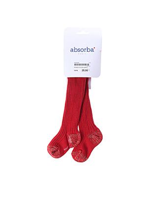 Collants rouge ABSORBA pour fille