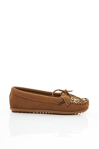 Chaussures bâteau marron MINNETONKA pour fille