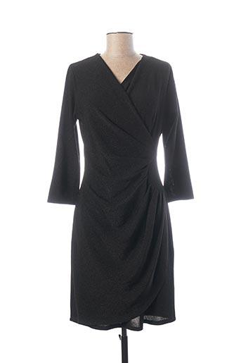 Robe mi-longue noir ESPERANCE pour femme