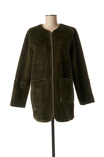 Manteau long vert SUNCOO pour femme