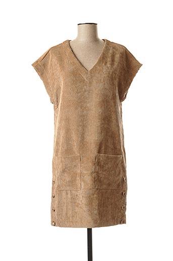 Robe courte beige BANANA MOON pour femme