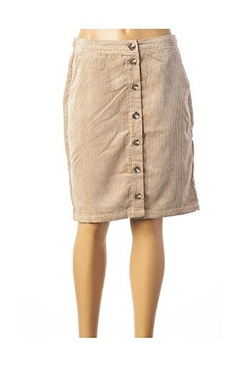 Jupe mi-longue beige MSCH COPENHAGEN pour femme