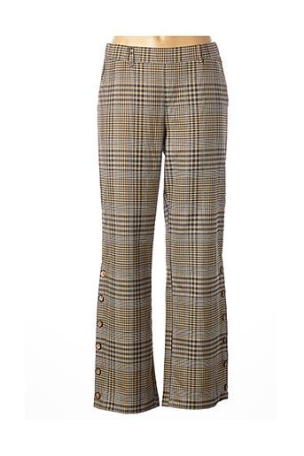 Pantalon casual beige KAFFE pour femme