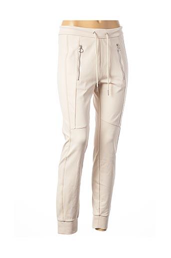 Pantalon casual beige OUI pour femme