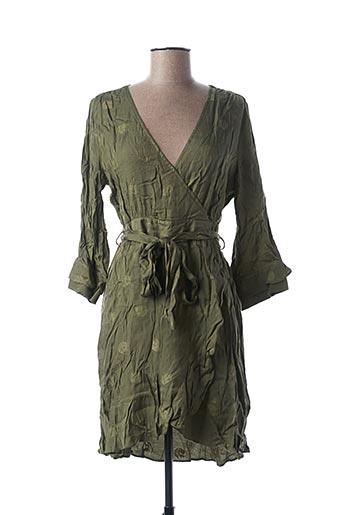 Robe courte vert ALIX pour femme
