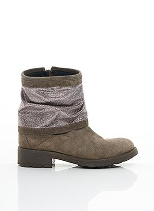 Bottines/Boots beige REQINS pour fille