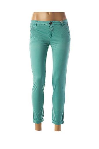 Pantalon 7/8 vert DDP pour femme