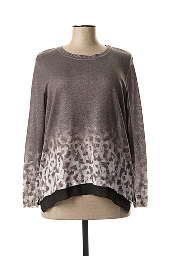 Pull col rond gris CAPUCCINO pour femme