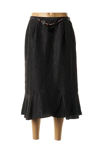 Jupe mi-longue noir CATY JANE pour femme