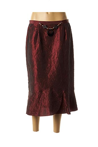 Jupe mi-longue rouge CATY JANE pour femme