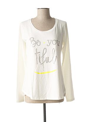 T-shirt manches longues blanc MISS CAPTAIN pour femme