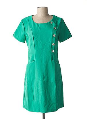 Robe mi-longue vert L33 pour femme