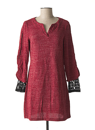 Robe pull rouge L33 pour femme