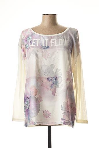 T-shirt manches longues blanc EMOI BY EMONITE pour femme