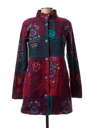 Manteau long violet COLINE pour femme