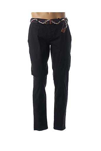 Pantalon casual noir BACK LIGHT pour homme