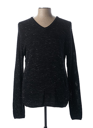 Pull col V gris EBOUND pour homme