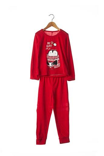 Pyjama rouge LINA PINK pour fille