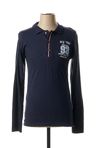 T-shirt manches longues bleu EBOUND pour homme