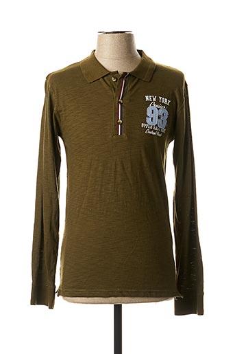 T-shirt manches longues vert EBOUND pour homme