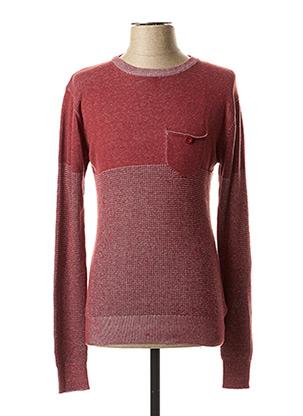 Pull col rond rouge EBOUND pour homme