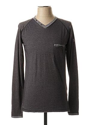 T-shirt manches longues gris OAKS VALLEY pour homme