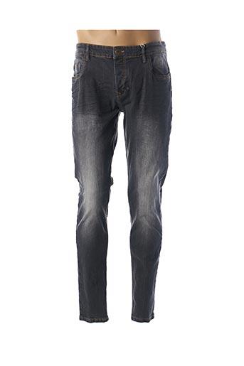 Jeans coupe slim gris BACK LIGHT pour homme