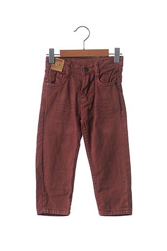 Jeans coupe droite orange KNOT SO BAD pour garçon
