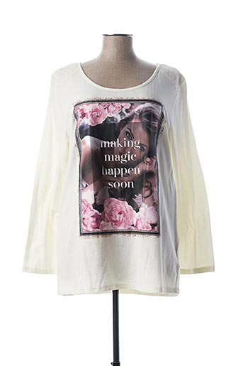 T-shirt manches longues beige EMOI BY EMONITE pour femme