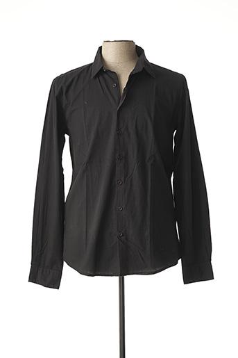 Chemise manches longues noir BACK LIGHT pour homme
