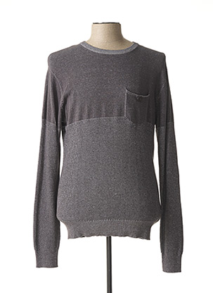 Pull col rond gris EBOUND pour homme