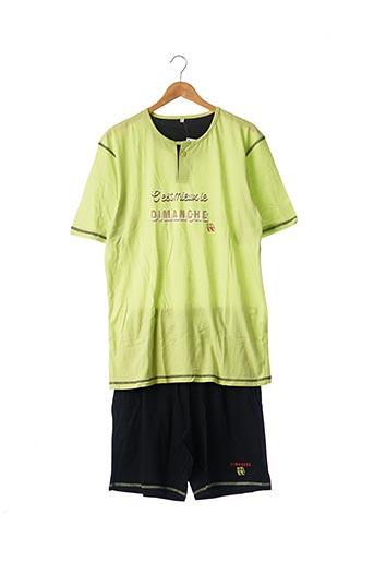 Pyjashort vert CHRISTIAN CANE pour homme