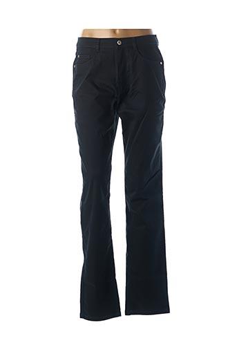 Pantalon casual bleu BRUNO SAINT HILAIRE pour femme