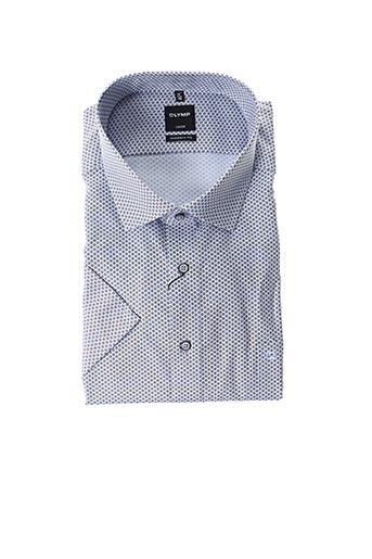 Chemise manches courtes bleu OLYMP pour homme