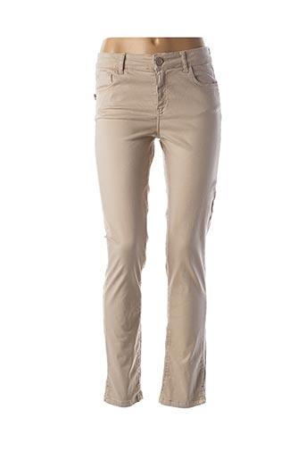 Pantalon casual beige DANIELA DALLAVALLE pour femme