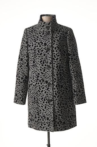 Manteau long gris BARBARA LEBEK pour femme