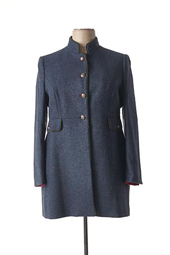 Manteau long bleu BARILOCHE pour femme