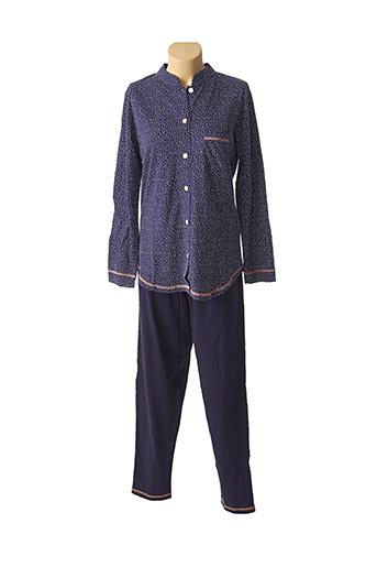 Pyjama bleu ROSE POMME pour femme