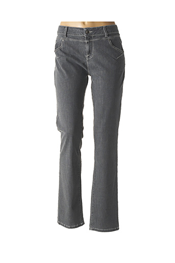 Jeans coupe droite gris MISE AU GREEN pour femme