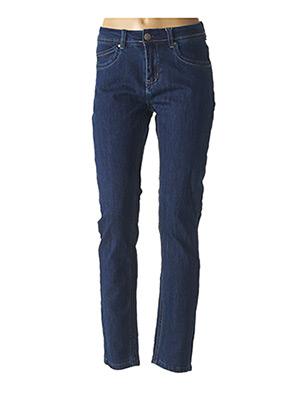 Jeans coupe slim bleu GEVANA pour femme